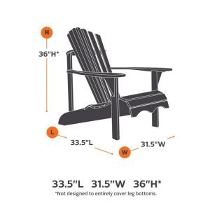 Adirondack Chair Cover Dimensions