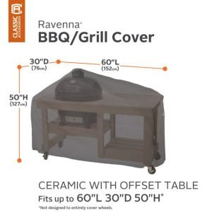 Ceramic Grill Cover with Side Table