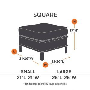 Square Ottoman Furniture Cover