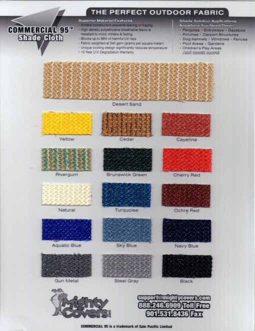 Commercial 95 Swatch Card