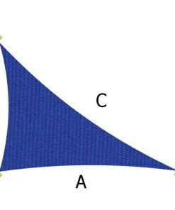 Sunbrella LG Rt Angle Triangle Pacific Blue