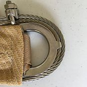 Commercial Sail Corner with 1/4 inch steel cable