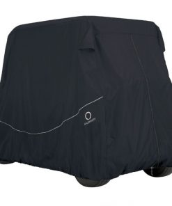 Fairway Quick Fit Golf Cart Cover Long Roof Black Large