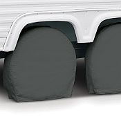 Camper Wheel Covers in Grey