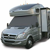 Grey RV Windshield Cover